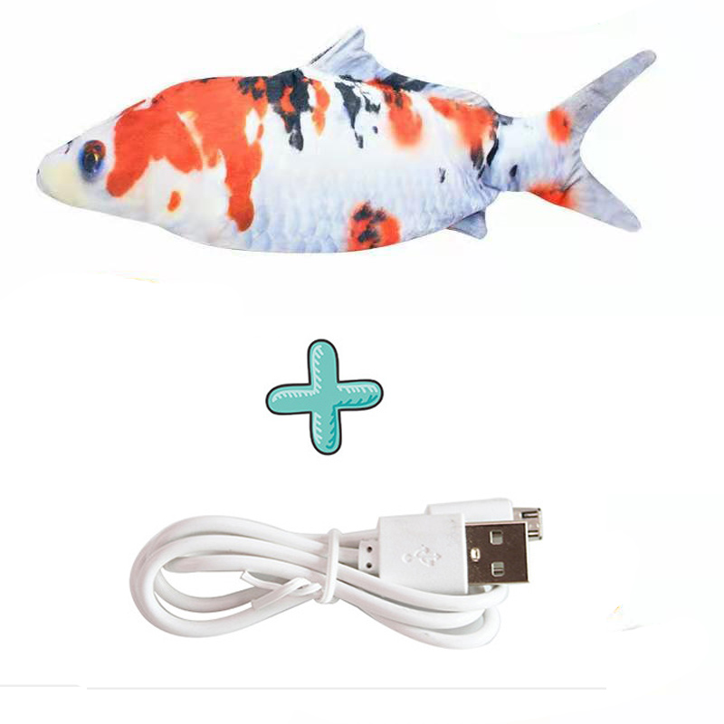 Cat USB Charger Toy Fish Interactive Electric floppy Fish Cat toy Realistic Pet Cats Chew Bite Toys Pet Supplies Cats dog toy 21