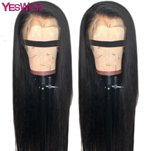 Perruque Lace Front Wig sans colle malaisienne-yeswig | Perruque naturelle, couleur naturelle, 13x4, pour femmes africaines(China)