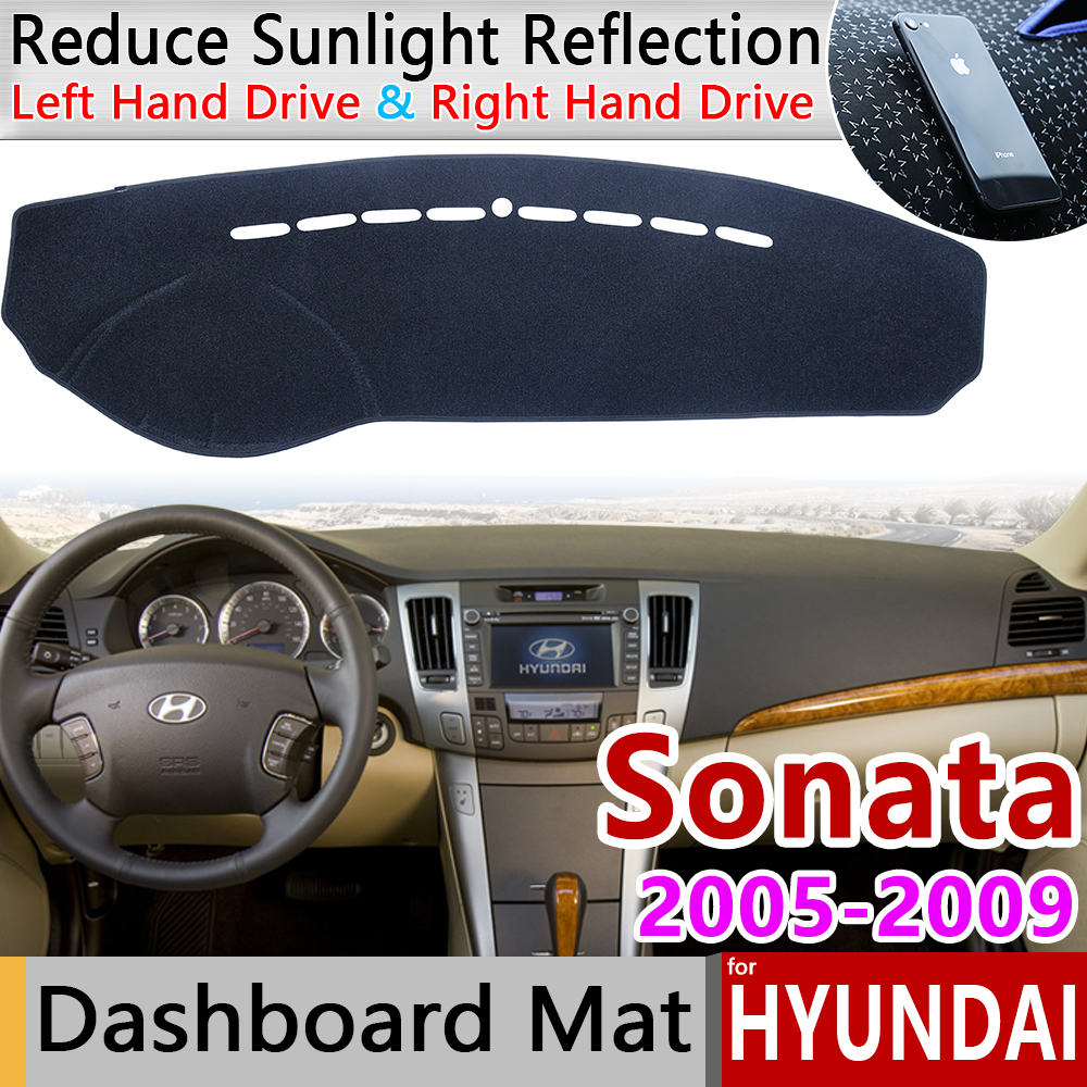 For Hyundai Sonata NF 2005 2006 2007 2008 2009 Anti-Slip Mat Dashboard Cover Pad Sunshade Dashmat Protect Carpet Accessories Rug
