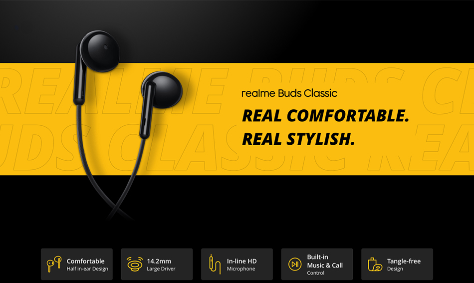 Realme Buds Classic Wired Earphones 5