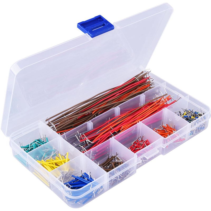 560 Pieces Jumper Wire Kit 14 Lengths Assorted Preformed Breadboard Jumper Wire With Box