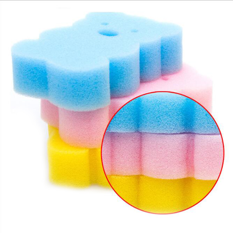 Baby Kids Cartoon Body Cleaning Soft Bath Sponge Scrub Scrubber Shower Spa Brush Soft Baby Shower Brush Pink/Red/Yellow/Blue