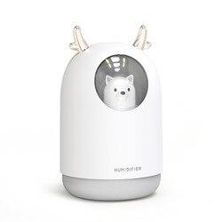 Mini USB regulowany generator chłodnej mgiełki nawilżacza powietrza z oddychającym światłem dla dziecka dzieci sypialnia domu|Nawilżacze powietrza|   -