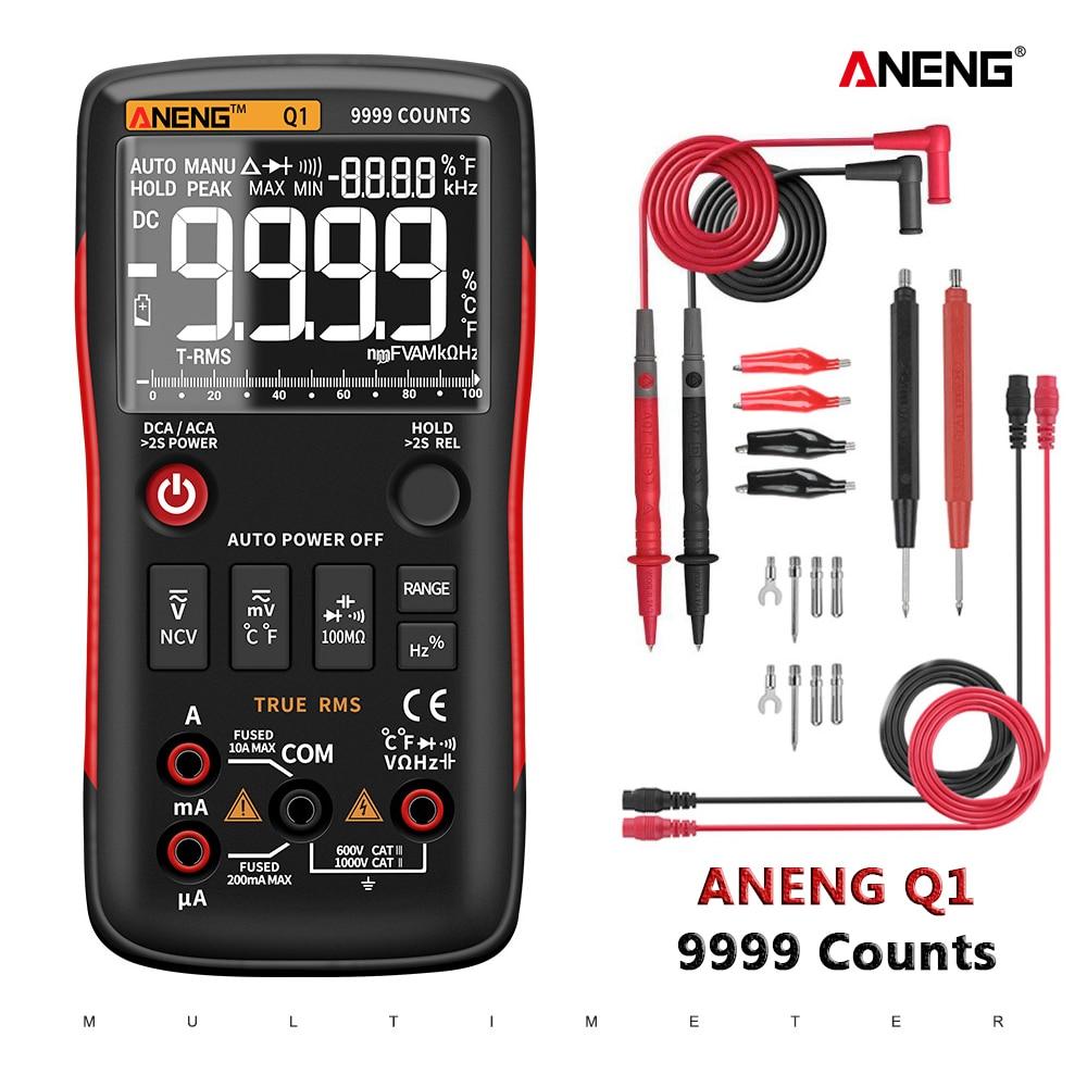 ANENG Digital Multimeter Testers Capacitor Transistor 9999 NCV True Rms Professional