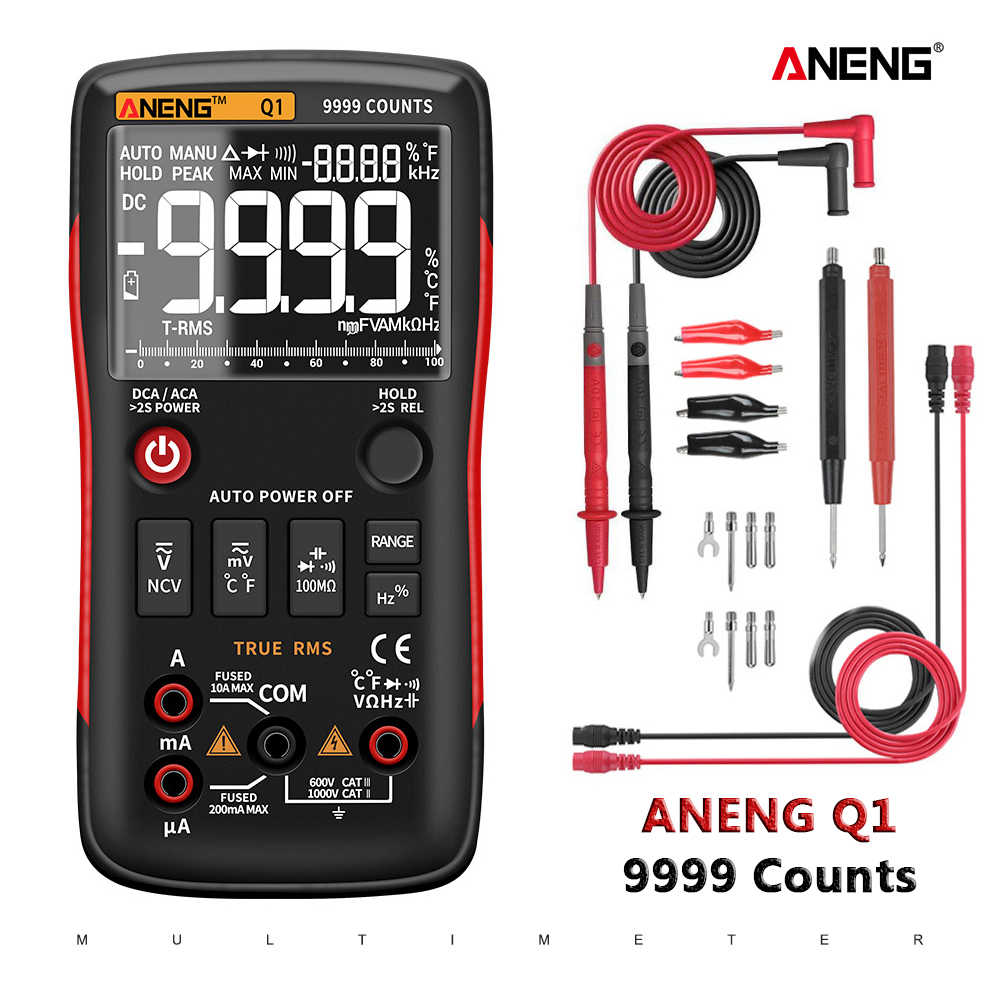 ANENG Q1 digital multimeter tester 멀티미터 참-RMS Digital 멀티 미터로 Button 9999 rm409b 테스터의 automotive electrical comprobador dmm transistor tester 멀티테스터기