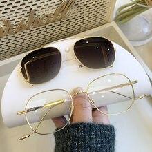 2 In 1 polarize güneş gözlüğü üzerinde klip 2020 moda kahverengi tonları lüks tasarımcı optik manyetik güneş gözlüğü çerçeve kadın erkek UV400