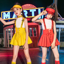 Cheerleading Dancing Suit Hip Hop Dance Costume Girls Braces Skirt Stage Wear Jazz Dance Clothes Ropa Street Dance Wear VDB2048(China)