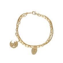 Women's 925 Sterling Silver Bracelets Gold Chain Bracelet Zi