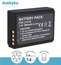 1000mAh LP-E10 LPE10 LP E10 Digital Camera Battery for Canon EOS 1100D 1200D 1300D 2000D Rebel T3 T5 T6 KISS X50 X70 ion Battery недорого