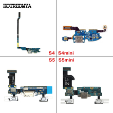 Charging Port Flex Cable For Samsung Galaxy S4 S5 Mini i9505 i9500 i337 i9192 i9195 G900 G900F Charger Dock Connector USB Socket e 093 2 in 1 micro usb charging dock for samsung galaxy s4 black