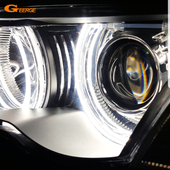 For BMW E46 E36 E38 E39 131 146 Excellent DTM Style Ultra bright led Angel Eyes halo rings Retrofit Accessories free shipping 4x high power xenon white smd led light angel eyes projector halo rings marker kit for bmw e36 e38 e39 e46