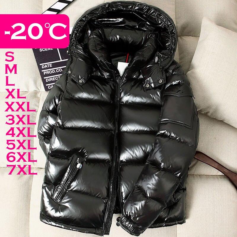 Winter Men Down Jackets Boys Down Coat Winter Snow-wear Hooded Male Down Outerwear M L XL XXL 3XL 4XL 5XL 6XL 7XL