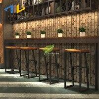 Banqueta de madeira maciça de madeira maciça de madeira maciça cadeira de café de lazer de alta qualidade|  -