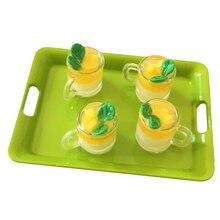 Dollhouse Mini Miniature-Accessories Decoration Cup for 1pcs Food-Model-Toys Mango-Pudding