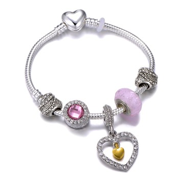 Cute Mickey Mouse Themed Bracelet Bracelets Jewelry New Arrivals Women Jewelry Metal Color: 20 Length: 21cm
