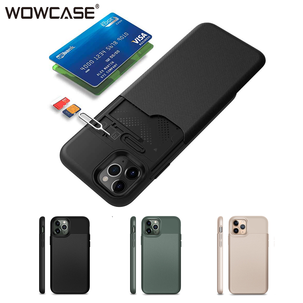 WOWCASE Wallet For iPhone 12 Pro Max Case Business Hybrid Slide Armor Phone Cover for iPhone 11 X Xs Xr Card Holder Coque Funda