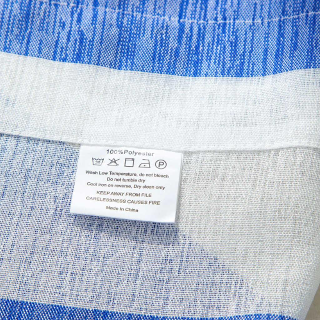 مخطط الحمام قصيرة الستارة جيب الستائر المطبخ نافذة العلاج ديكور