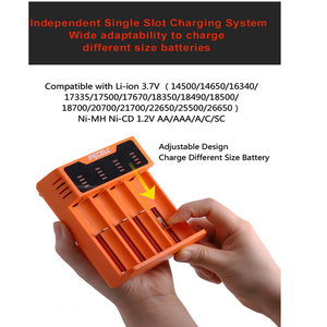 Image 2 - 1Pcs * PKCELL סוללה מטען עבור עבור 1.2V 3.7V 3.2V AA AAA 26650 18650 18350 14500 10440 CRCR123A 5V 2A עם תצוגת LED USB קו