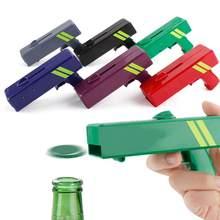 Ouvre-bouteille de bière Portable 6 couleurs, pistolet créatif, lanceur de casquette volante, outil de Bar, pistolet d'ouverture de boisson, couvercle de bouteille, tireur