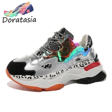 DARATASIA New INS Fashion Leopard Dad Shoes Woman Casual Platform Sneakers Women 2019 Girl Patchwork Tennis