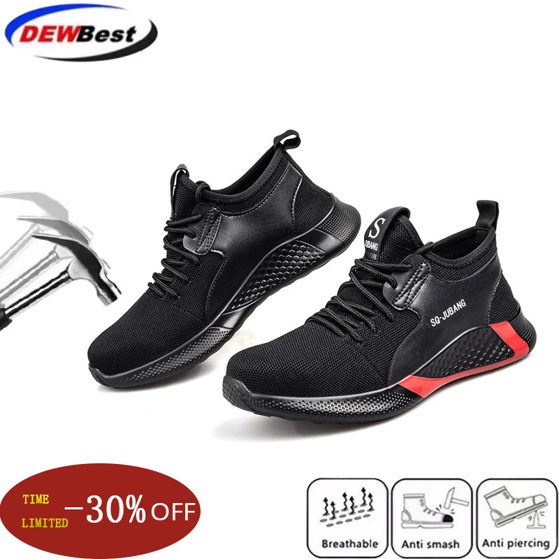 Men Boots Steel Toe Work Safety Boot Anti-smashing Puncture Safety Shoes For Casual Sneaker Men Shoes Army Boots Work Shoes