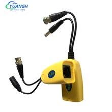 5 pairs 8mp cctv vídeo balun coaxial bnc potência de vídeo balun transceptor para conector rj45 para cctv vigilância de segurança