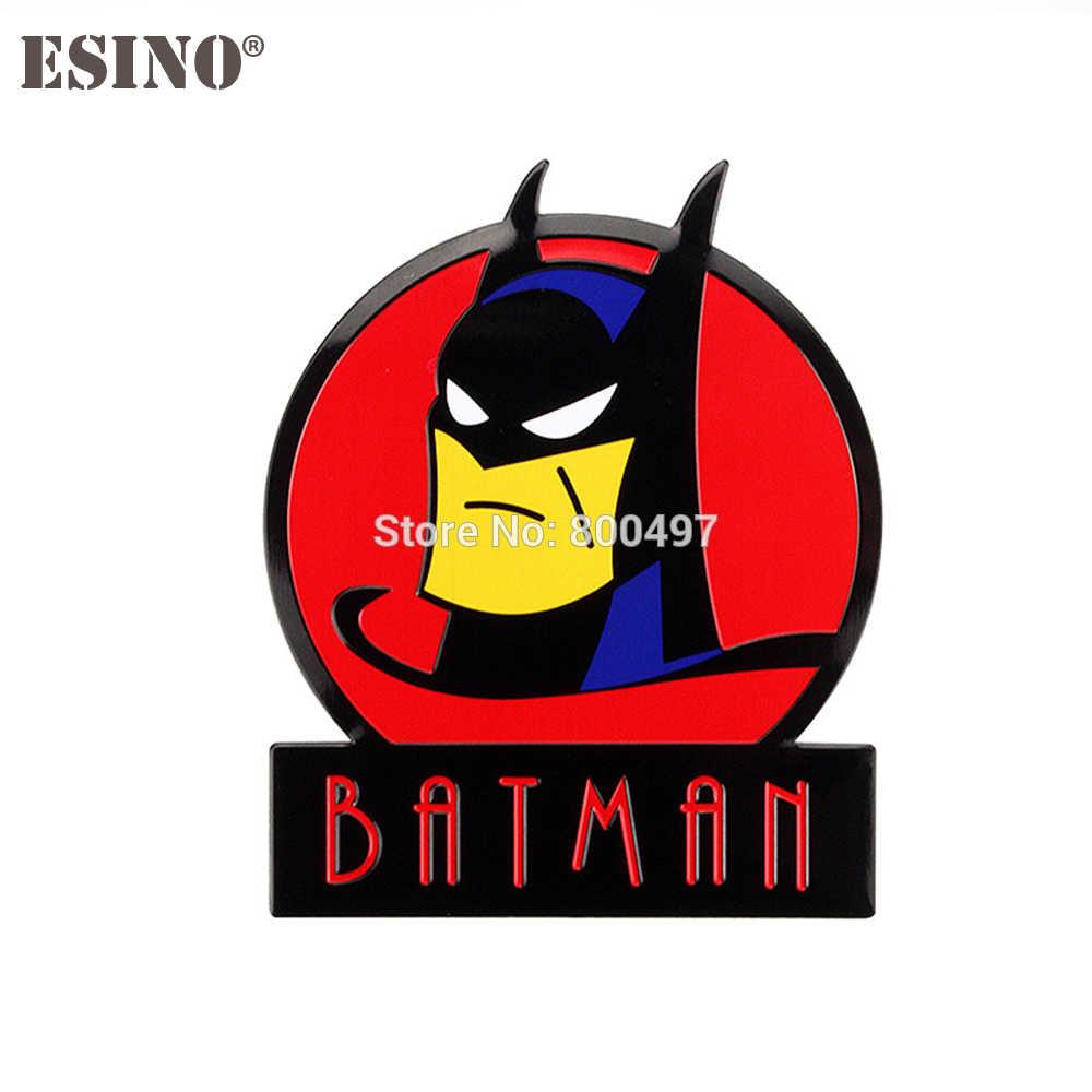รถจัดแต่งทรงผม Super Hero Batman Dark Knight 3D โลหะ Chrome อลูมิเนียม 3D Emblem Badge สติกเกอร์รูปลอก Auto อุปกรณ์เสริม