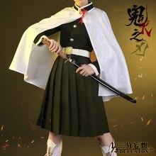 Аниме! Demon Slayer Косплей Костюм Tsuyuri Kanawo Оригинальная версия дизайн кимоно Униформа F