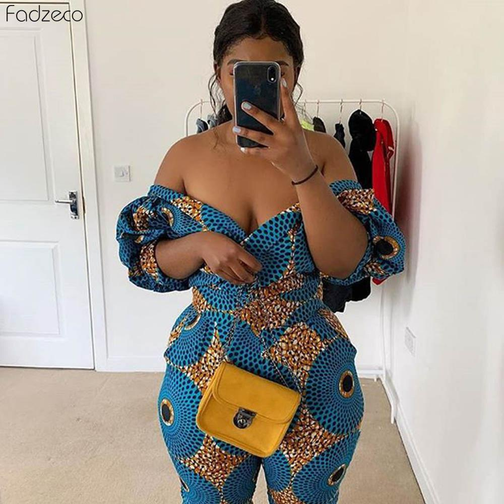 Fadzeco African Dress For Women Kanga Clothing 2019 Ankara Floral Wax Print V-Neck Backless Bazin Africain Femme Ladies Gowns