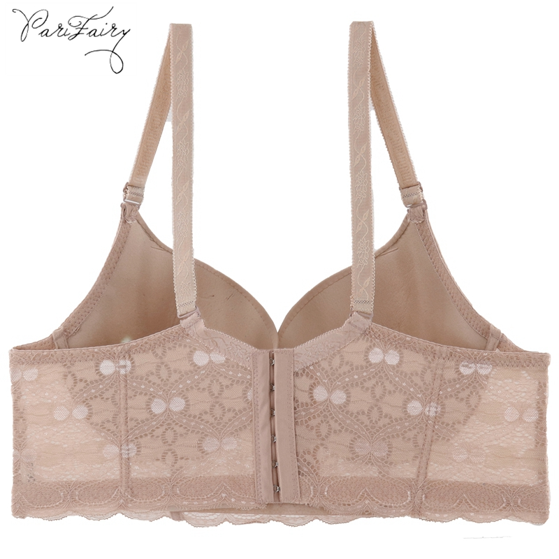 PariFairy Women Plus Size Bra 6 Hook And Eyes D DD E Cup 95 100 105 110 Underwired Bras Sexy Lady Embroidery Push Up Underwear