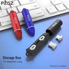 Caja de enchufe de Cable magnético PZOZ, caja de conexión tipo C, C de Micro USB 8 pines, adaptador de carga rápida para teléfono Microusb, enchufes de cargador magnéticos tipo C