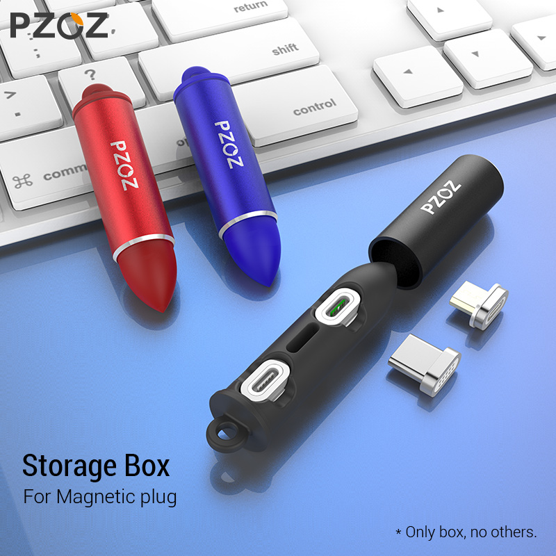 PZOZ Magnetic Cable plug box Type C Micro USB C 8 pin Fast Charging Adapter Phone Microusb Type C Magnet Charger cord plugs-in Mobile Phone Cables from Cellphones & Telecommunications