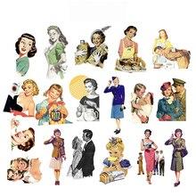 18PCS Junk Journal Vintage WW2  Kitchen&Love Stickers DIY Stationery