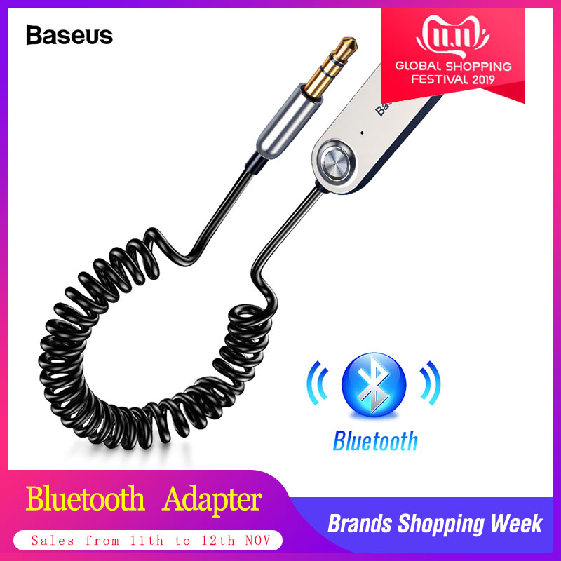 Baseus Handsfree USB Aux Bluetooth Adapter Dongle Cable For Car 3.5mm Jack Aux Bluetooth 5.0 4.2 4.0 Receiver Audio Transmitter