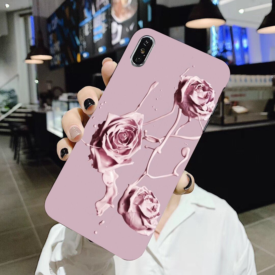 rose gold and light pink Buy Silicone Phone Case For BQ BQS S 5059 5035 6040L For HTC U11 U12 Plus For LG K10 K8 K7 K4 2017(China)