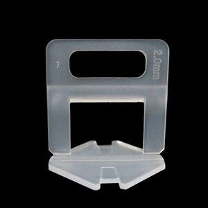 Image 3 - 401 Pcs Tegel Leveling Systeem 2 Mm 300 Stuks Clips + 100 Pcs Wiggen + 1 Stuk Tang Plastic Betegelen gereedschap Tegel Spacer