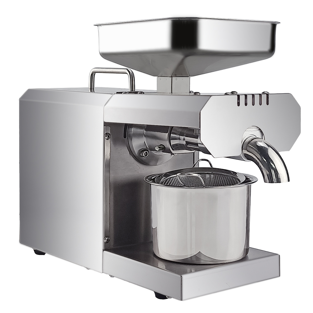 700W Commercial ménage presse à huile Machine automatique presseur d'huile expulseur noix graines noix de coco huile extracteur contrôle de la température - 3
