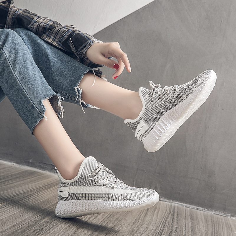 Women Sneakers Breathable Mesh Air Fashion Candy Color Casual Shoes Lace Up Low Cut Light Comfort Woman Running Shoe 3h02