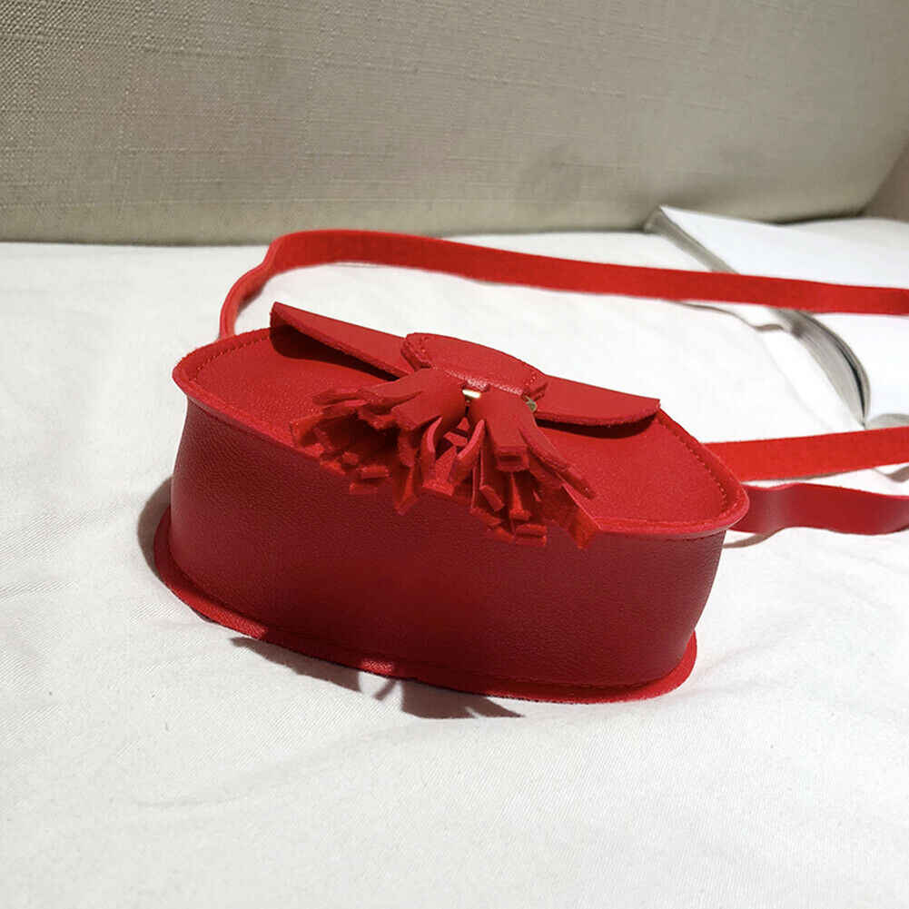 Small Cross Over Body Bag Ladies Shoulder Tassel Handbag Purse Women Messenger