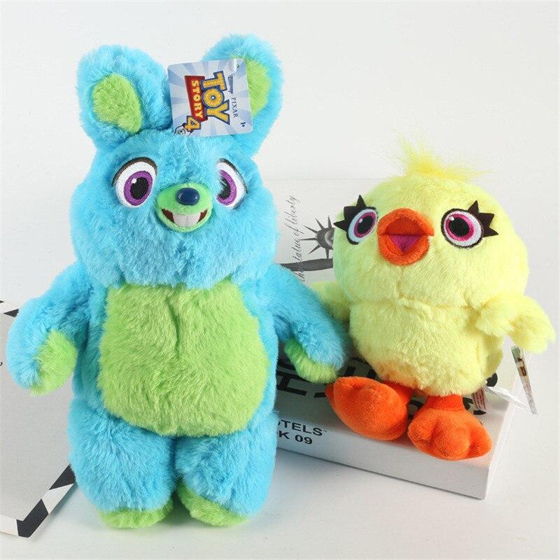 Hot Toy Story 4 Bunny&Ducky Woody & Buzz Lightyear Doll Soft Stuffed Kids Birthday Christmas Gifts Long Plush Toys