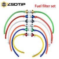 ZSDTRP-filtro de combustible interno para motocicleta, filtros de gasolina + 1M, tubo flexible de combustible de gasolina + 4 Clips, Color 8mm