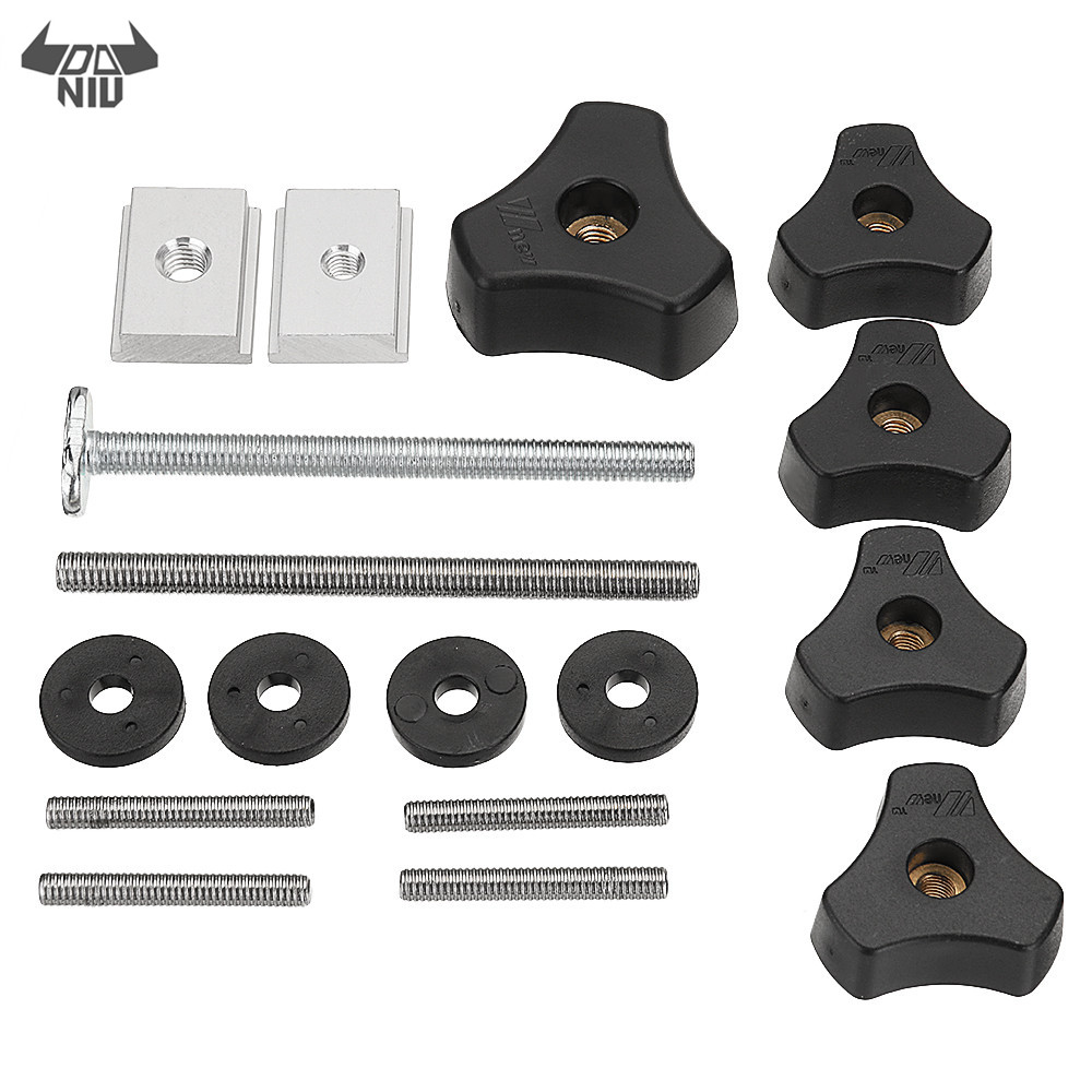DANIU Woodworking Tool Accessary Quick Action Hold Down Clamp Handle Nut Set Fits For T-Slot T-Tracks
