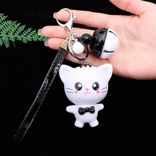 Lovely Cat Keychain Fashion Jewelry Gifts Car Key Holder Rings Cute Rabbit  Bell Chain Pendents