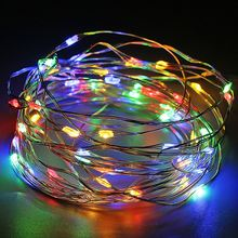 LED String Lights 10M 100leds Silver Wire Garland Light Home Christmas Wedding Party Decoration Battery Powered