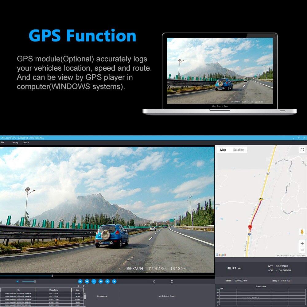 Image 4 - 4K 2160P واي فاي لتحديد المواقع مسجل سيارة بعدسة مزدوجة DVR نوفاتيك 96663 رقاقة سوني IMX323 الاستشعار للرؤية الليلية كاميرا مزدوجة كاميرا التسجيل الخاصة بالسيارات D30H-في كاميرا DVR/Dash من السيارات والدراجات النارية على AliExpress