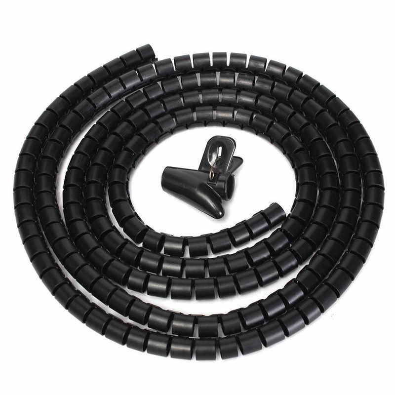 와이어 관리 랩 클립 도구 나선형 사무실 홈 새로운 나선형 랩 슬리브 밴드 튜브 케이블 보호기 라인