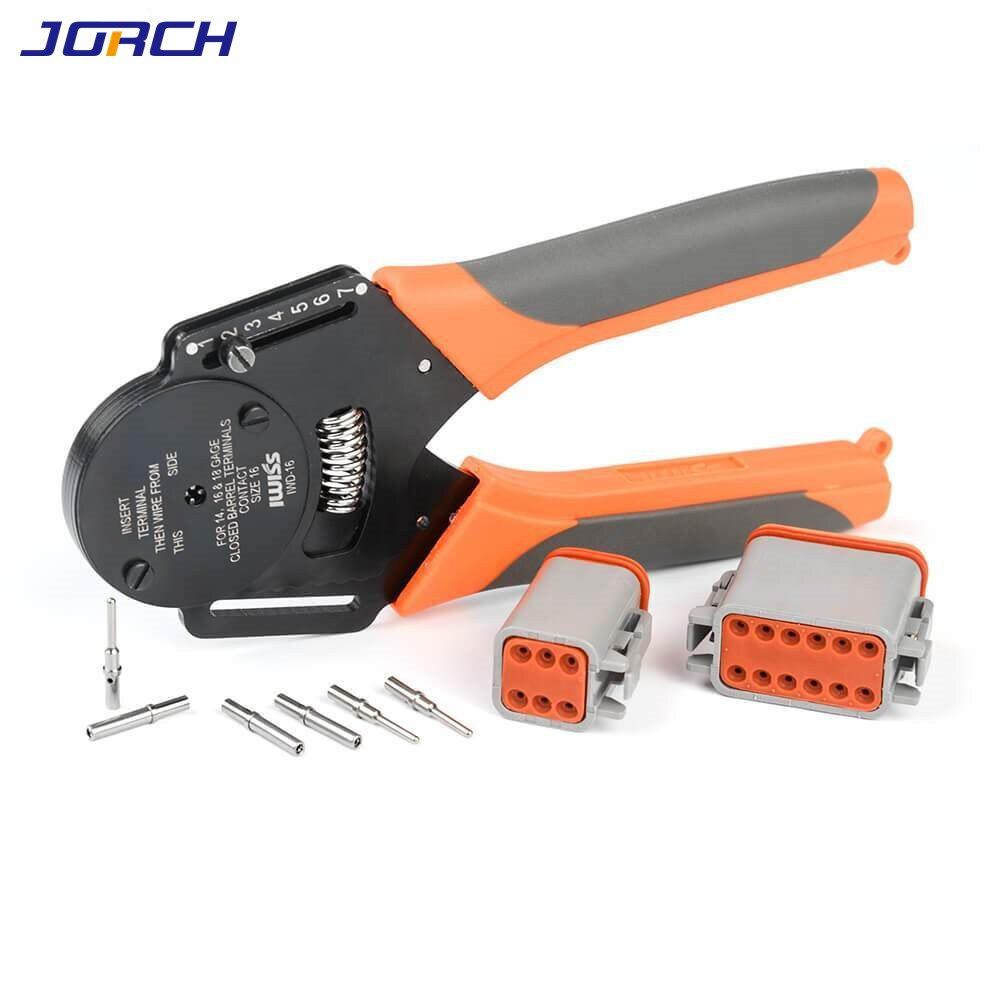 1 pcs IWD-16 Crimper Harley Cater piller Hand Tool for Deutsch connector Deutsch DTDTMDTP terminal w2 Pliers 18 16 14 AWG