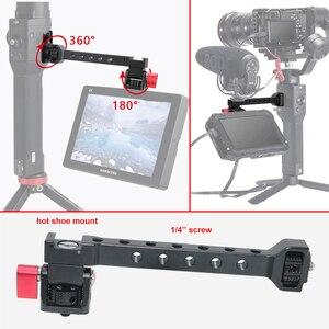 Image 4 - Soporte de luz de Flash para micrófono de zapata de 1/4 pulgadas para Dji Ronin S SC ZHIYUN Weebill Crane 3, soporte de Monitor de cámara de cardán