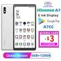 Google play Hisense A7 6,7-дюймовый ink экран eink дисплей электронная читалка 6 ГБ + 128 ГБ Полный доступ в Интернет 5G мобильный телефон на английском языке