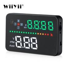 WiiYii A3 HUD OBD2 head up display car 3.5 inch Car GPS speedometer Windscreen Projector Speed Warning
